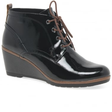 Orin Womens Wedge Heel Ankle Boots