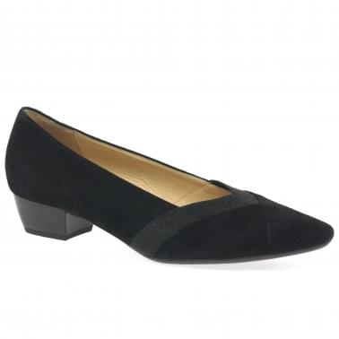 4547f21ed5b30 Opera Womens Contrast Insert Court Shoes