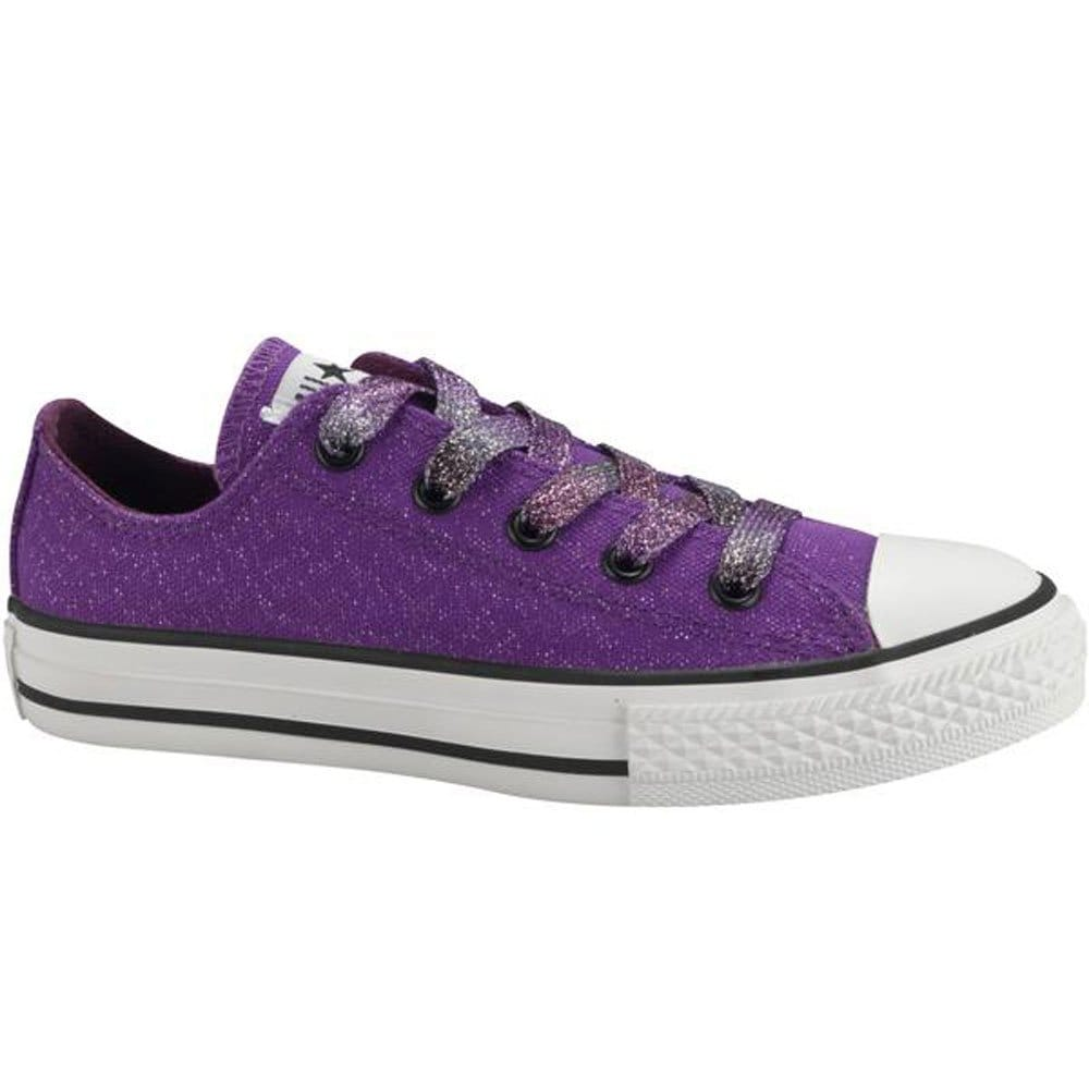 Converse Girls Purple All Star Oxford Lace Canvas Shoes ...